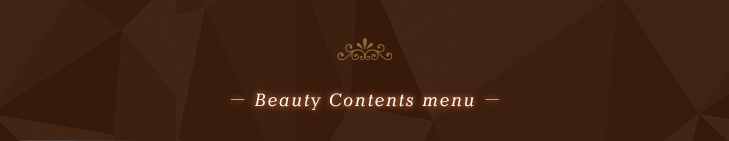 Beauty Contents menu